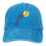 Hoswee Gorra de Béisbol Ajustable Heart Shaped Softball Adult Custom Cowboy Sun Hat Snapback Sombreros