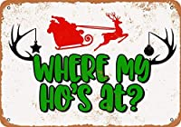 ヴィンテージ金属サイン私の家はどこにありますか?サンタクロースホームウォール装飾