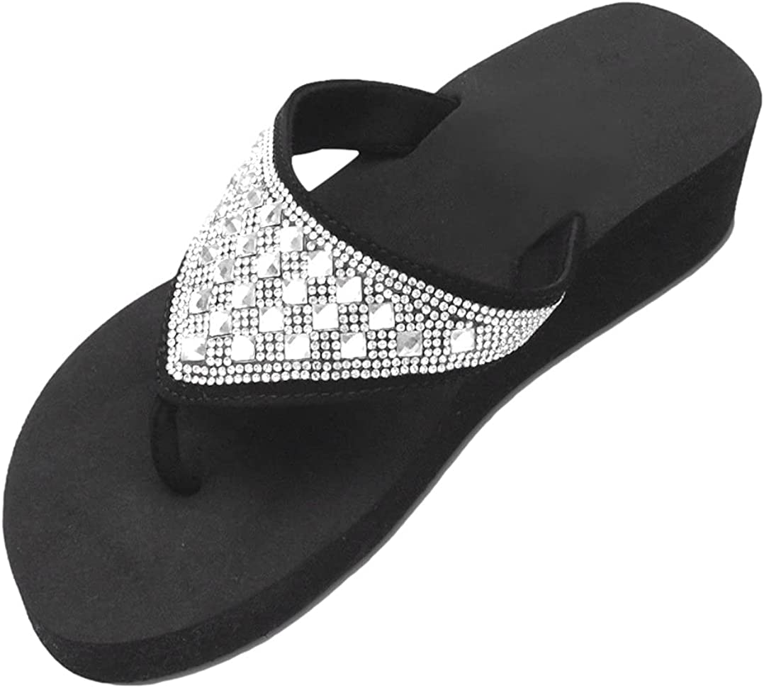 TravelNut Womens Lightweight Foam Special price for a limited time Spring new work one after another Summer Platfo Flip Bling Flops