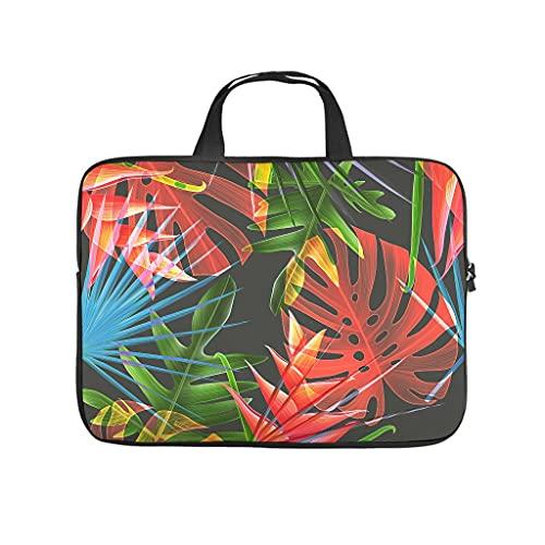 Funda para portátil con diseño de plantas tropicales, diseño de palmeras y hojas de Monstera con impresión 3D, a prueba de polvo, neopreno, funda para portátil