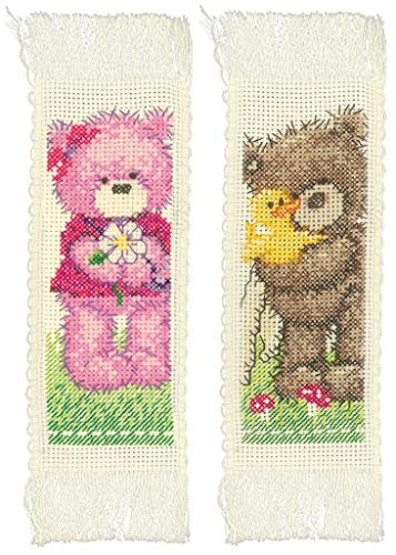 Vervaco PN-0166089 Counted Cross Stitch Kit, Bookmark, Polyester Coton, Blanc, 24 x 20 cm