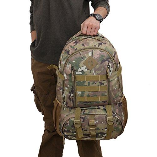 Wayamiaow reistas met grote inhoud van 50 l, camouflagepatroon, schoudertas, reistas, licht, outdoor, bergbeklimmen, rugzak voor mannen en vrouwen, Oxford-stof, meerkleurig, Cp Camo
