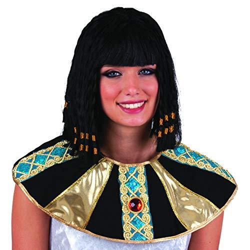 Pierro's Kostüm Perücke Cleopatra schwarz Zubehör Cleopatra Peücke Damenperücke Kunsthaar für Karne