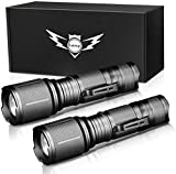 LETMY LED Tactical Flashlight, Ultra Bright 2000 Lumen XML T6 LED Flashlights