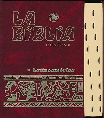 La Biblia Latinoamérica [letra grande] cartoné , con uñeros (Spanish Edition)