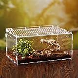 Reptilien Terrarium Käfig Insekten Fütterung Zucht Box Horizontale Alec Schachtel Cage Transparent Fütterungs Koffer Kletterndes Haustier Schlange Insekten Spinne Eidechse Skorpion Tausendfüßler