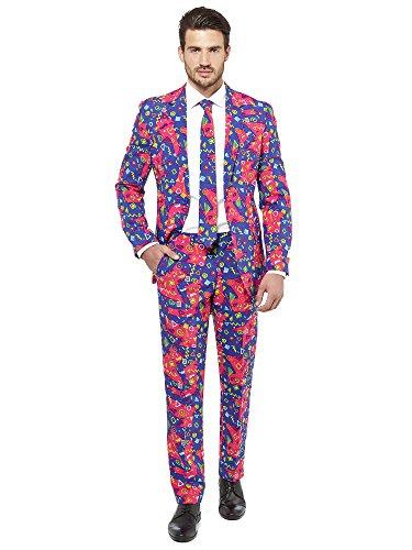 OppoSuits Festlicher Anzug für Herren bestehend aus Sakko, Hose und Krawatte - Party-Sonnenbrille gratis!
