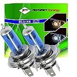 H4100W - Xenon look lampada alogena lampadina lampadina di ricambio set H4 100W 12V