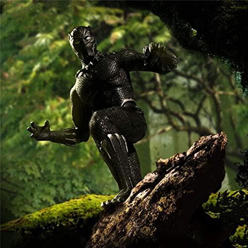 VENDISART Igual Que Mezco One: 12 Avengers Collective Black Panther Super Hero Figura de acción Juguetes para niños