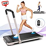 Wikole 2 in 1 Folding Treadmill, 2.25HP Under Desk Electric Smart Treadmill for Home,...