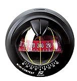Nautos 65742 - Mini Contest Compass - Black Bezel - Red Card
