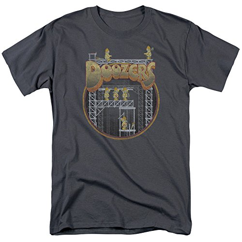 Fraggle Rock Jim Henson's TV Series Doozers Construction T-shirt pour adulte - Gris - XL