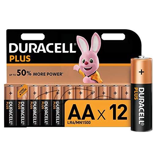 Duracell Plus, lot de 12 piles alcalines Type AA 1,5 Volts LR6 MN1500
