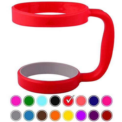 30oz Tumbler Handle (RED) by STRATA CUPS - Available For 30oz YETI Tumbler, OZARK TRAIL Tumbler, Rambler Tumbler- BPA FREE