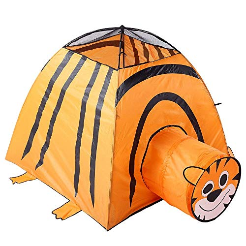WY-YAN Children Play Tent Cute Animal Pop Up Play House Toy Tent Indian Canvas Teepee Children Playhouse Kids Play Tent Toys for Girls/Boys Kids (Color : C1, Size : As shown)