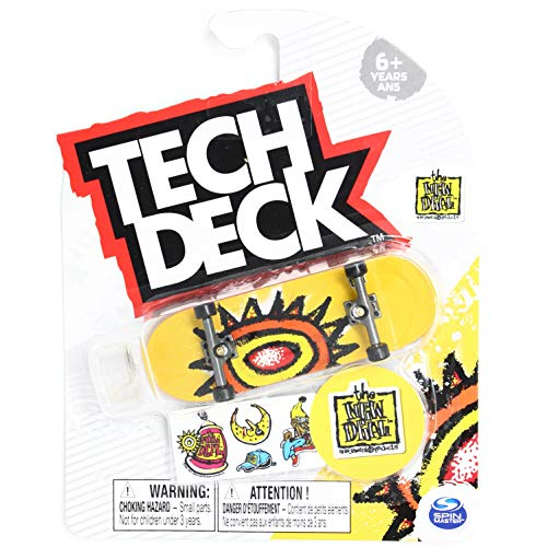 Tech-Deck The New Deal Skateboards WTF Sun Yellow 2020 Complete 96mm Fingerboard