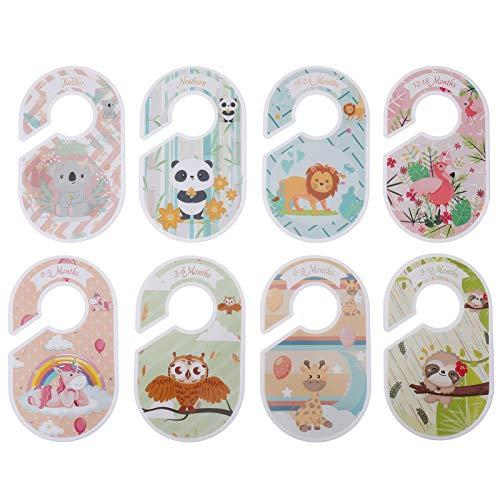 UKCOCO 8 Stück Kleidungsgröße Teiler Runde Kleiderbügel Schrank Teiler Baby Schrank Größe Alter Teiler Vom Neugeborenen bis 24 Monate