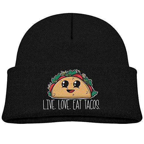 NR Live Love Eat Tacos Bonnet chaud pour bébé garçon fille