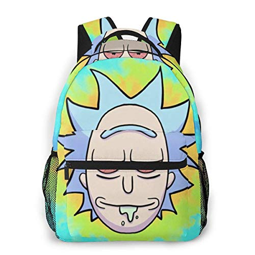 Rick&Morty Travel Laptop Backpack Student Bag Casual Lightweight for Travel School Shoping Sporting