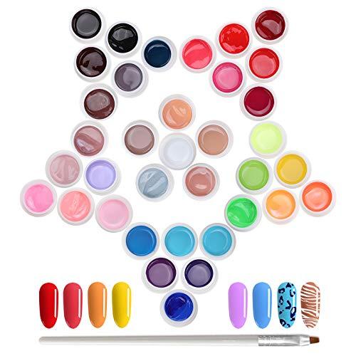 Janolia Gel Unghie UV 36 Colori per Nail Art, Set di Smalti Semipermanenti per Unghie in Gel UV LED, Smalto per Unghie, Scelte multiple, Adatto ai principianti
