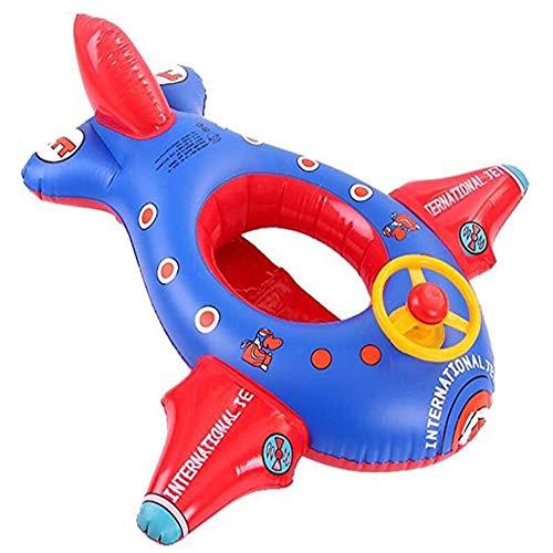 Kinderschwimmring, Ride-On Cartoon Großflugzeug Aufblasbares Babyboot Kinderboot Schlauchboot Schwimmbad, Mit Lenkrad Aufblasbares Boot Pool Cruiser Lizenz- Aufblasbarer Reittier