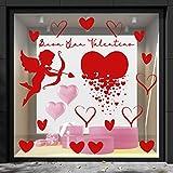 Vétrophanie Saint Valentin - Décoration vitrine, Désodorisants et Cupide rouge, Thèmes et Fantaisie Saint Valentin.