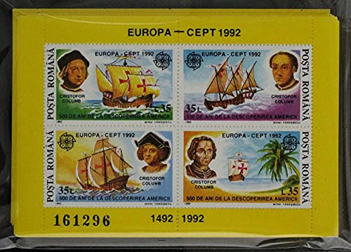 FGNDGEQN Stamp Supplies Rumania 1992 Europa (Columbus) velero aventura American small full