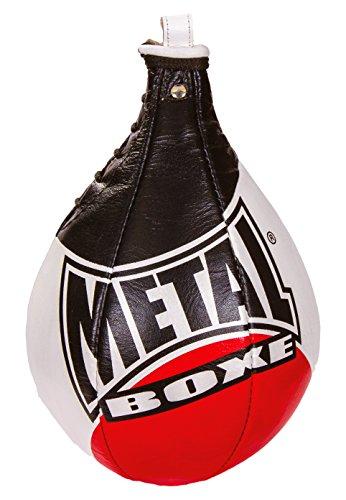 METAL BOXE MB168 - Pera de Velocidad Unisex, Color Negro y Rojo, Talla M