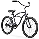 Firmstrong Urban Man Beach Cruiser Bike, Mens Bicycle 24-Inch, 1-Speed, Matte Black