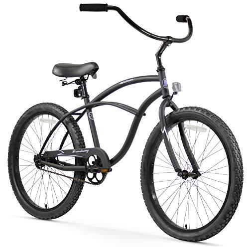 Firmstrong Urban Man Single Speed Beach Cruiser Bicycle, 24-Inch, Matte Black