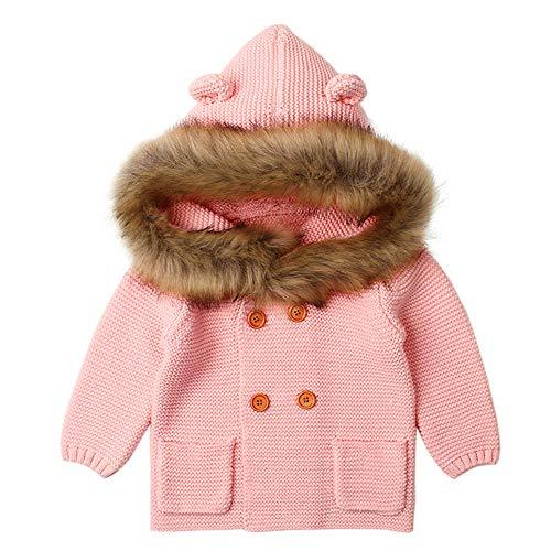 K-Youth Niñas Invierno Abrigo de Punto Chaqueta con Capucha Suéter Plumas Unisex Trenca Ropa Bebe Niño Larga Abrigo para Niñas Abrigo Bebe Niña Otoño Calentito Jacket Baratas