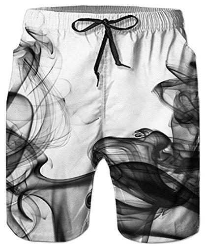 Idgreatim Männer Badehose 3D Gedruckt Grafik Sommer Strand Surf Board Shorts Einstellbare Kordelzug XL