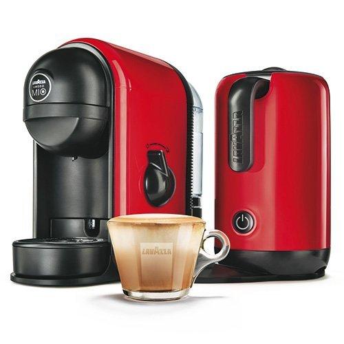 Lavazza A Modo Mio 10080949 Koffie- en espresso-machine, met geïntegreerde melkopschuimer rood