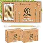 Alyn Bamboo Cotton Buds | Pack of 2 (400 Pieces) | Organic GOTS Certified Wool | 100% Biodegradable Wooden Ear Swabs… 2