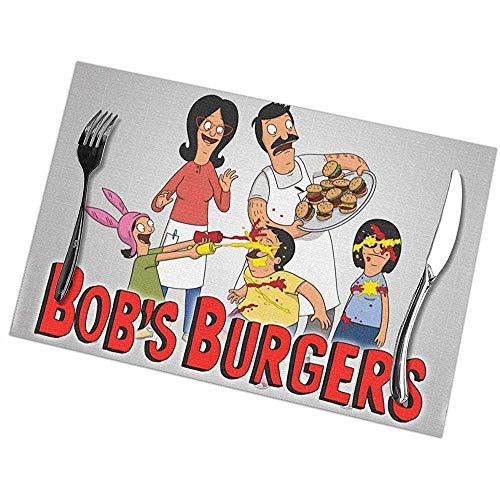 Bob Bur-Ger Tischsets für Esstisch 6er-Set Anti-Rutsch-Waschtisch für die Küche Hitzebeständige rutschfeste Tischsets
