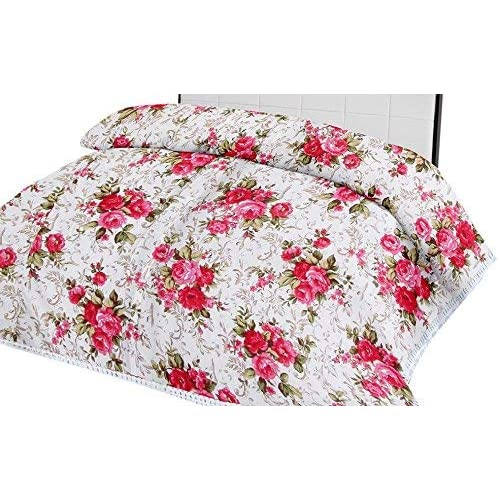 Handicraftworld Luxury Pink Floral Printed Reversible Polycotton AC Blanket/Dohar/(Double)