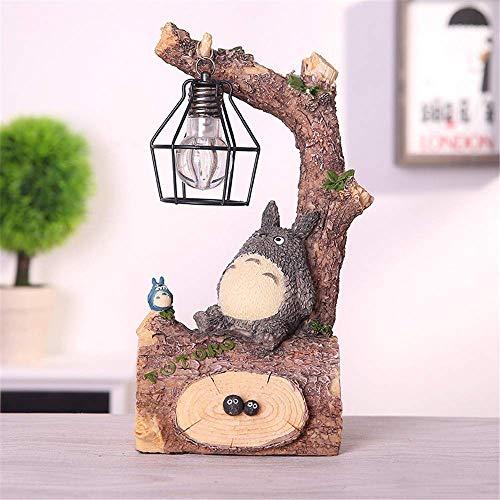 YHX Totoro Figur, Japanischer Anime Mein Nachbar Totoro Spirit Away Figuren Totoro Figur Mit Nachtlampe Licht Statue Modelle Puppen Für Hausgarten Dekoration Kinder Geschenk,with soot Spirit