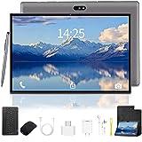 Tablet 10.1 inch Android 9.0 (Go Edition) 1280x800 IPS HD Display with Keyboard Case Quad-Core 1.3Ghz Processor, 3 GB RAM, 32 GB Storage, 8MP Rear Camera, Bluetooth, Wi-Fi, USB, GPS-Gray