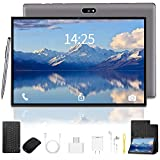 Tablet 10.1 inch Android 9.0 Go 1280x800 IPS HD Display with Wireless Keyboard Case Quad-Core 1.3Ghz Processor, 3 GB RAM, 32 GB Storage, 8MP Rear Camera, Bluetooth, Wi-Fi, USB, GPS - Gray