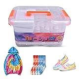 BONROB Tie-Dye Kit, 15 Colores Tie-Dye Kits para Niños y Adultos con Calcetines, Guantes, Bandas de Goma, Manteles