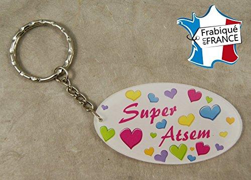 Porte Clef Super ATSEM - Le Cadeau Original de Fin d'Année Scolaire. L'école est finie ! Vive les Vacances !
