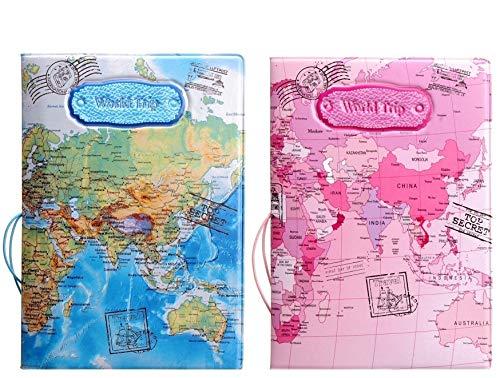 Set of 2 Passport Covers Passport Holder Case RFID Blocking Travel Gifts For Men...