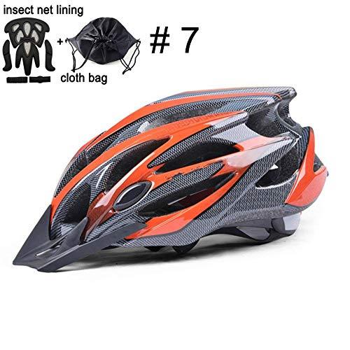 Claean-Acces-Home CascoHelmetLoop Casco de Ciclismo Casco de Bicicleta Ultraligero Casco de Bicicleta MTB en Casco Casco de montaña-Actualización de Color 7_M (55-58 cm)