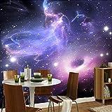 WJbxx Fototapete Wandtapete Hd 3D Wandbild Tapete Für Schlafzimmer Wände Moderne Abstrakte Universum Sterne Galaxy Wohnzimmer Decke Tapete 3D 250 * 175 Cm