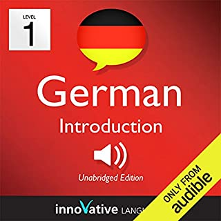 Learn German - Level 1: Introduction to German, Volume 1: Lessons 1-25     Introduction German #1              By:                                                                                                                                 Innovative Language Learning                               Narrated by:                                                                                                                                 GermanPod101.com                      Length: 4 hrs and 53 mins     30 ratings     Overall 3.9