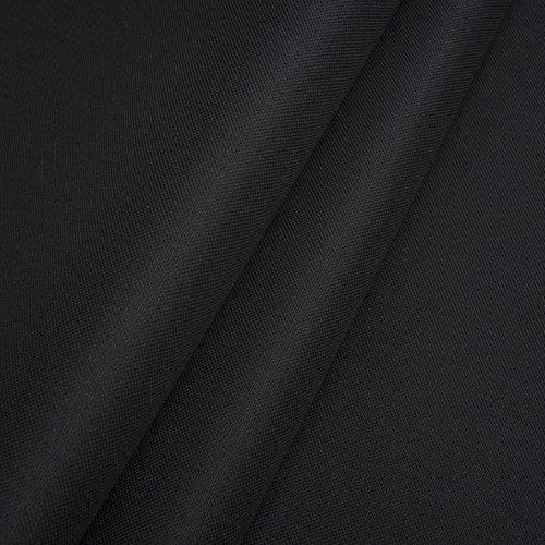Pure Textilien Polyester Oxford 600D 1lfm - Wasserdicht, Outdoor Stoff, Segeltuch, Abdeckplane (Schwarz)