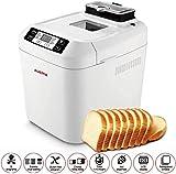 Máquina eléctrica para hacer pan, Máquina automática para hacer pan con menú sin gluten Máquina para hacer pan 2LB, 12 funciones preestablecidas Máquina para hacer pan FastBake Máquina para hacer pan