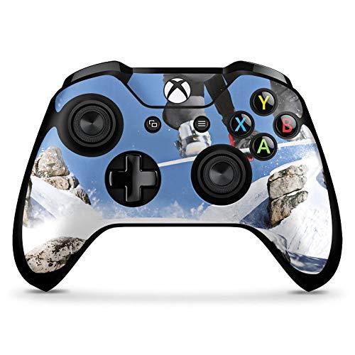 DeinDesign Skin kompatibel mit Microsoft Xbox One X Controller Aufkleber Folie Sticker Snowboard Sprung Wintersport