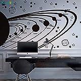 zhuziji Solar System Vinyl Wandtattoos Für Kinder Astronomie Kindergarten Sterne Planeten Weltraum...