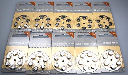 Hörgerätebatterien Größe 312er 120 Stück von Hörex Basic